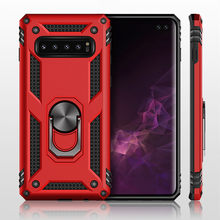 Shockproof Armor Kickstand Phone Case For Samsung Galaxy S10 S8 S9 Plus Finger Magnetic Ring Holder Cover For Note 8 9 S10 E(China)