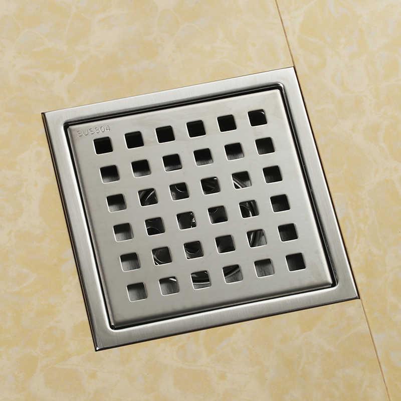 نحى 150*150 ملليمتر 6 بوصة مربعة دش الطابق استنزاف مع إزالة صر المصنوعة من sus304 المقاوم للصدأ -- SM158