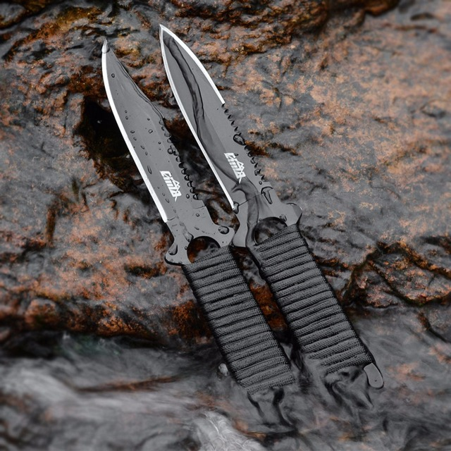 Half Serrated Blade Diving Knife
