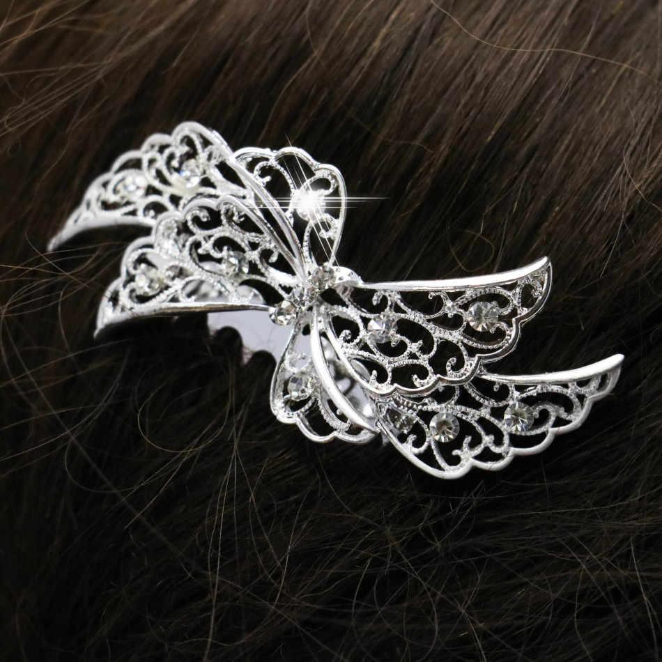 Мода средства по уходу за волосами Для женщин хрустальные стразы гребень цветок расческа для волос Свадебные женские украшения аксессуары для волос; свадебные гребень 70*56 см
