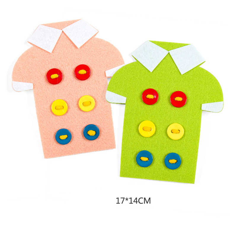 Non-ทอThreadingสวมใส่Laces Craftของเล่นการเรียนการสอนอนุบาลคู่มือDIYสานผ้าการศึกษาMontessoriของเล่นเด็ก