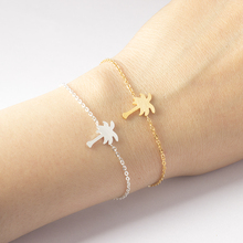 Stainless Steel Jewelry Gold Color Palm Tree Bileklik Bracelet Men Tropical Coconut Bracelets & Bangles For Women Pulseras Mujer