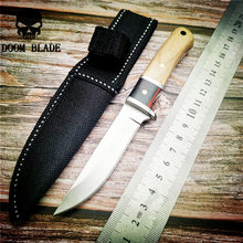 160mm 5CR15MOV Blade Knives Fixed Knife Steel+Wood Handle Outdoor Camping Tactical Hunting Knives Utility Survival +Nylon Sheath цены