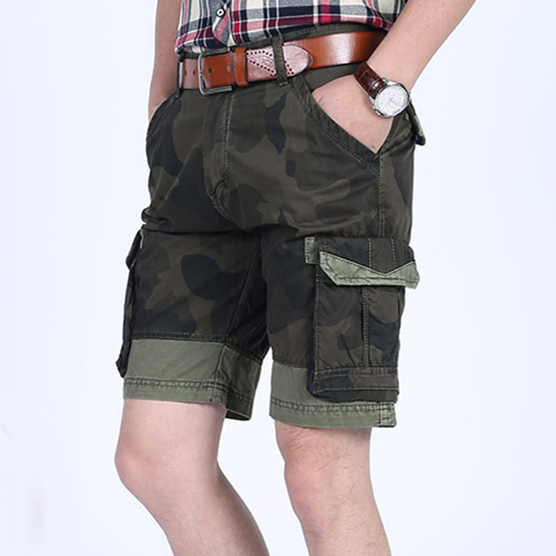 2018 Mens Military Cargo Shorts Brand New Army Camouflage Shorts Men Cotton Loose Work Casual Short Pants No Belt