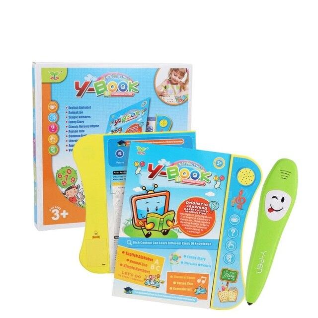 Niño tocar el tipo de computadora Tablet inglés estudio aprendizaje máquina bebé de juguete de aprendizaje Montessori juguetes educativos de madera para regalo