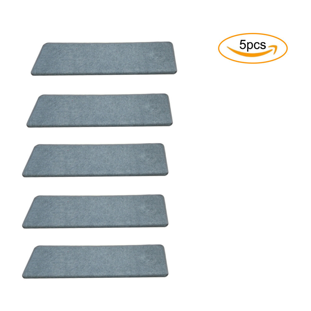 5pcs/set New Home Anti-Slip Floor Staircase Carpets Stair Treads Children Safety Protector Mats 3cm Thicken Stair Rugs 65x24cm