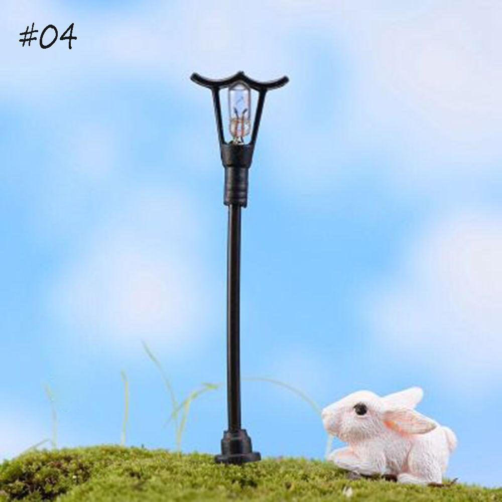 1:12 Dollhouse Miniature Metal Street Light Road Garden Lamp Lantern Lighting