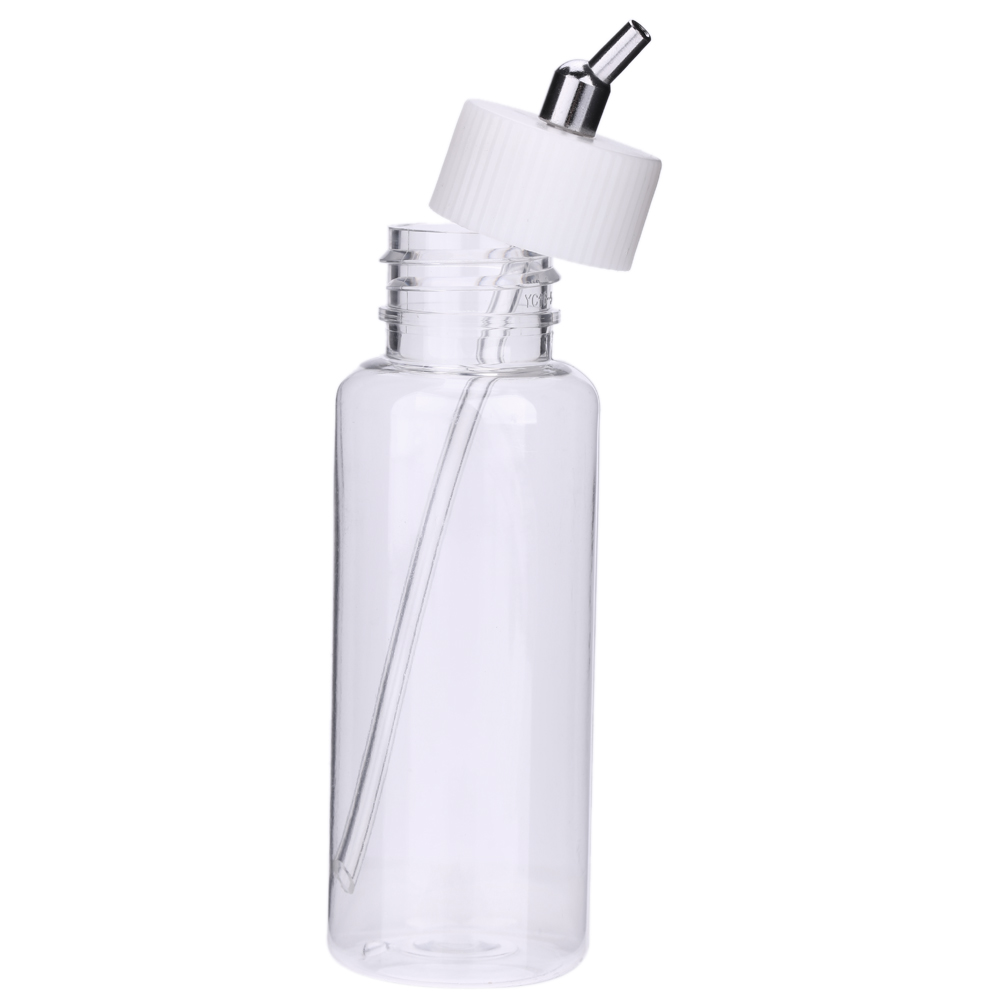 10PCS 100cc Plastic Airbrush Bottles Painting Jars Dual-Action Siphon Feed Air Brush Pot With Lid Adapter Paint Spray Gun Bottle