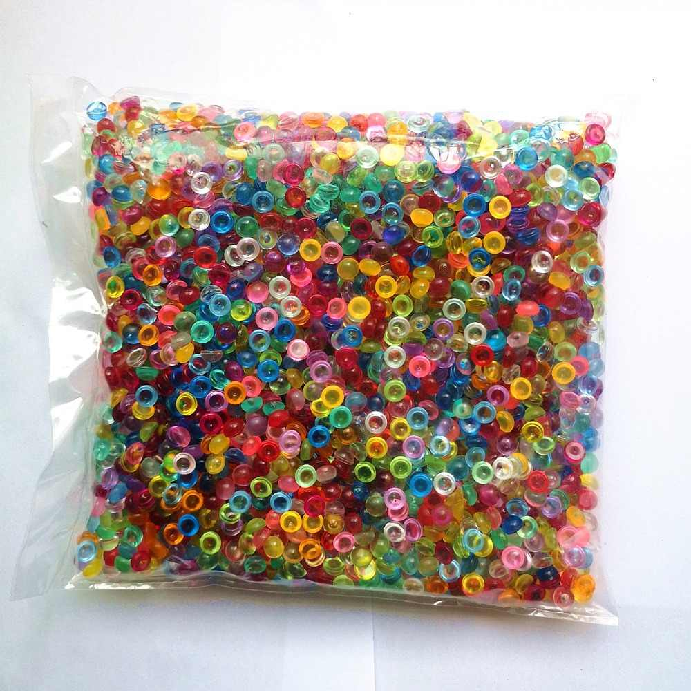 500g/Bag Fishbowl Beads DIY Slime Decoration 7mm Diameter For Craft Tools Home Decoration With 21 Colors