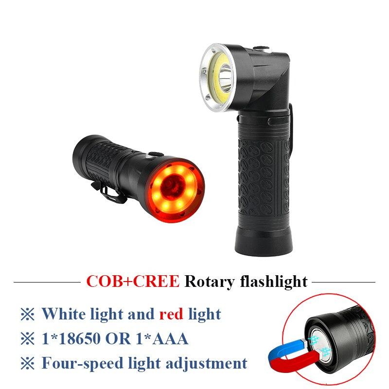 Powerful LED Flashlight xml t6 multifunctional COB work inspection lights 90 degree folding flashlight with magnet 18650 or AAA sitemap 34 xml