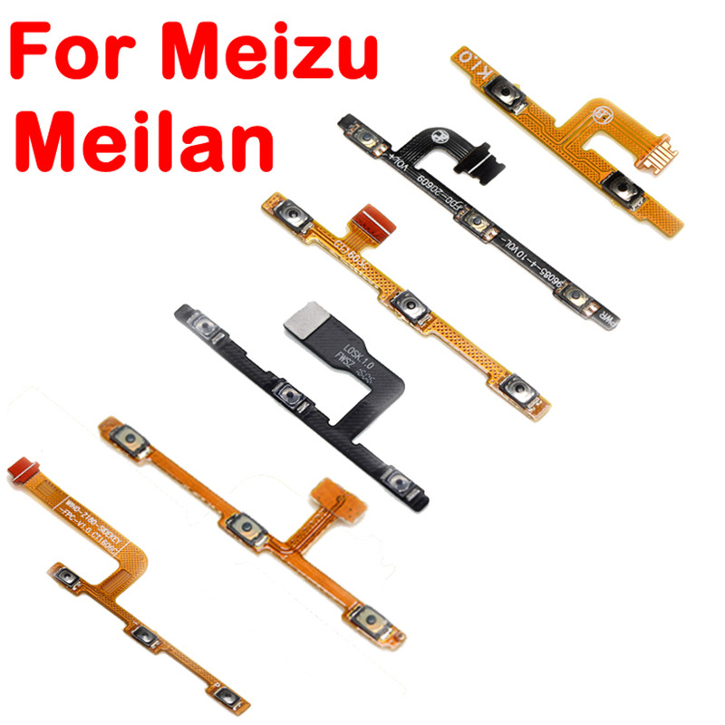 For <font><b>Meizu</b></font> MX4 MX4 Mx6 Mx5 Pro 5 M2 M3 M3S M5 M5S <font><b>M5C</b></font> Note M2 Note Metal Volume Side Power Switch on off Button Key Flex Cable image
