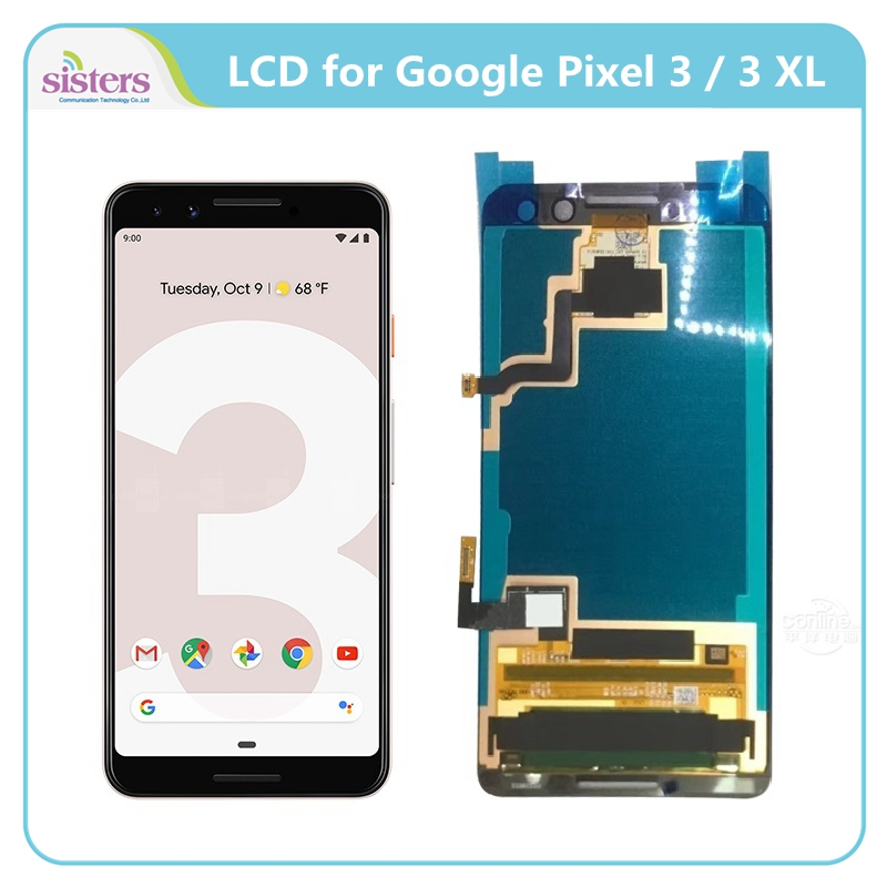 LCD Display For Google Pixel 3 3 XL Touch Screen for Pixel 3 3 XL Screen Digitizer LCD Assembly Replacement Best AAA+ QualityLCD Display For Google Pixel 3 3 XL Touch Screen for Pixel 3 3 XL Screen Digitizer LCD Assembly Replacement Best AAA+ Quality