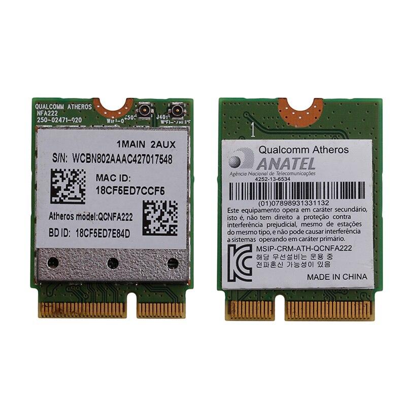 802.11n a/b/g/n QCNFA222 2.4/5GHz WiFi Bluetooth PCIe Half Mini Card For Atheros C26