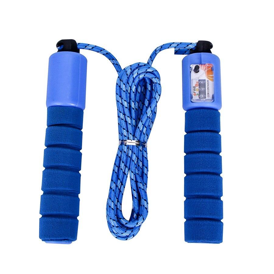 RoadRoma Cuerda de Saltar de conteo Profesional Ajustable Cuerda de Salto de conteo autom/ático Azul