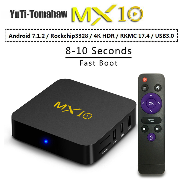 US $59 6  MiNi pc MX10 Smart TV Box Android 8 1 RK3328 Quad Core 64bit DDR3  4GB 32GB 4K HD Wifi 100M LAN USB3 0 Set top Box media player-in Mini PC