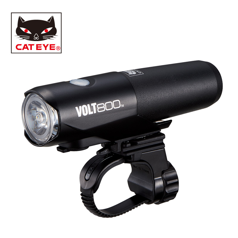 CATEYE Bikes Light Portable LED 800 Lumens Lamp Bicycle Bike Handlebar Front Lights Cycling Riding Safety Light Lamps 5 Modes cateye hl el930rc bike rechargeable lamp super bright sumo3 light bicycle headlights