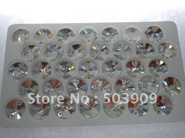 HOT SALE 35pcs RIVOLI sew on rhinestone +Fast delivery time+sew on glass beads+Free shipping+crystal color+MOQ 2parcels