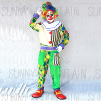 Funny Halloween Christmas Performance Wear Masquerade Magician Adult Men Clown Clothes Cosplay Costumes