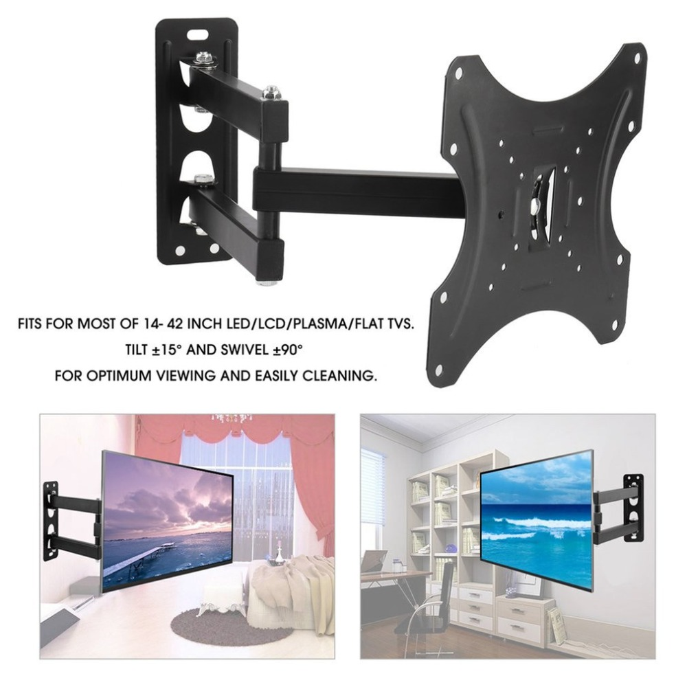 Universal TV Wall Mount Bracket Swivel Tilt Fixed Flat Panel TV Stand Holder Frame for 14-42 Inches LCD LED TV Monitor free shipping 14 26 tilting flat panel lcd led monitor tv wall mount bracket