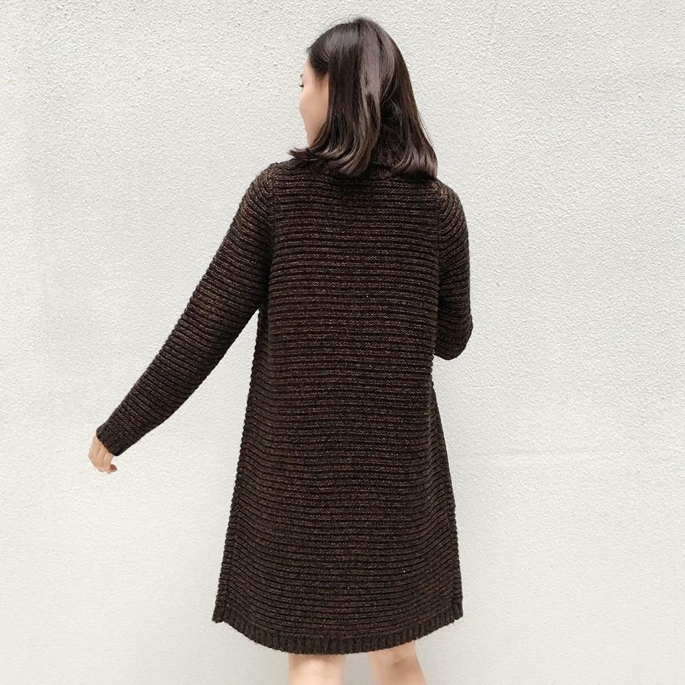 WENTING Women Long Sleeve Oversized Printed Jumper Knitwear Sweater T-Shirt for Winter
