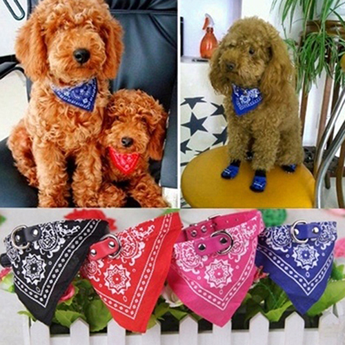 Adjustable Pet Dog Puppy Neck Scarf Bandana Collar Fashion Neckerchief