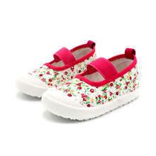 COZULMA Girls Floral Classic Slip-on Canvas Shoes Kids Spring Summer Fashion Sneakers Children Casual Shoes Size 21-30 стоимость