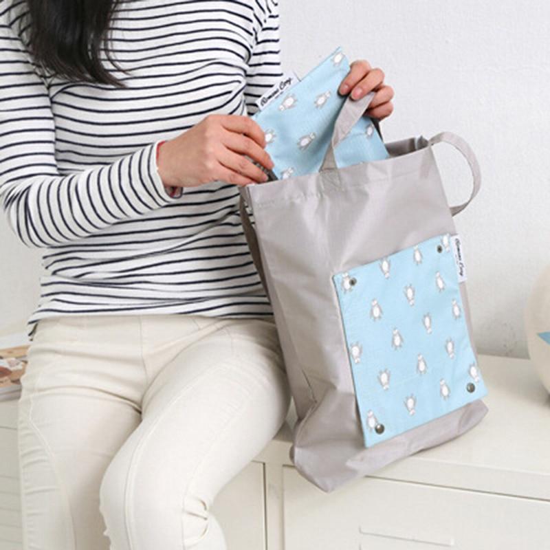 Creative Environmental Storage Bag Handbag Print Foldable Shopping Bags Reusable Folding Grocery Nylon Eco Tote Bag