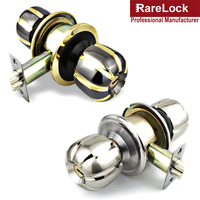 Rarelock Christmas Supplies Door Handle Lock with Keys Knob Simple Style for iphone Office Women Bag Shop Door Hardware DIY c