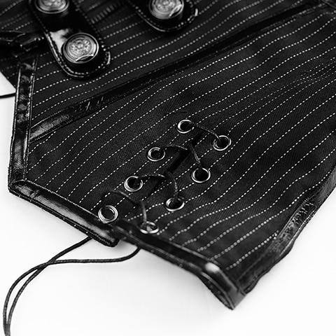 Vintage Sans Rayures Uniforme U Gilet Manches Verticales De Casual En Forme Coton Femmes Militaire Équipée rFgrqPwcBZ