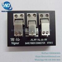 Wigor MT961D Wysoka Precyzja Gołe Włókno Złącze typu V gniazdo złącze światłowodowe MT-961D naga optical fiber łączący narzędzia
