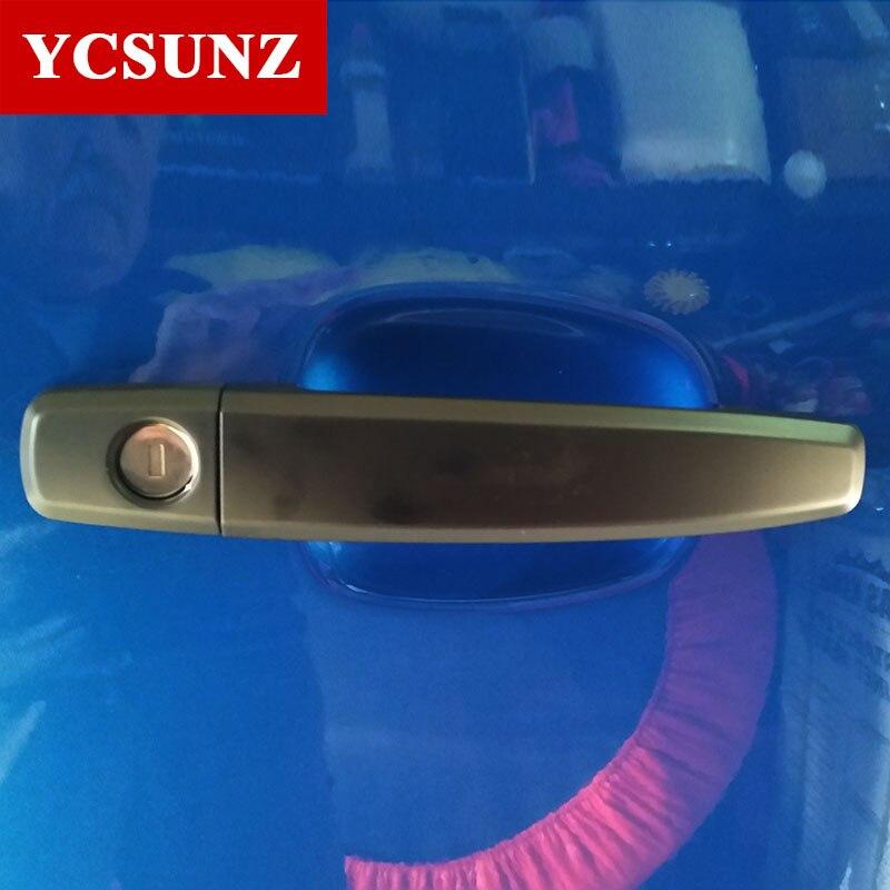 Black Handle Cover For Holden Chevy Colorado 2012-2018 ABS Chrome Handle Covers For Chevrolet Colorado TrailBlazer 2016 Ycsunz