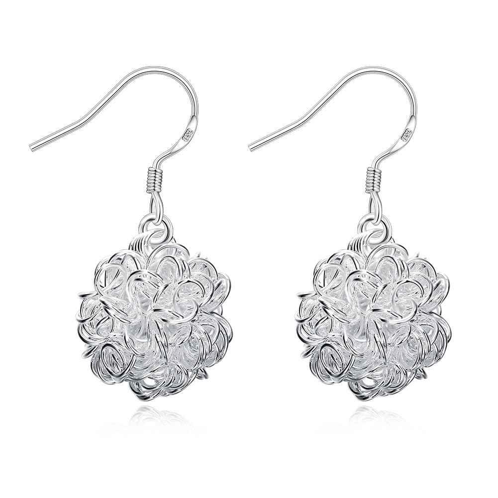 Wholesale High Quality Jewelry font b Silver b font Plated Tennis Ball font b Earrings b
