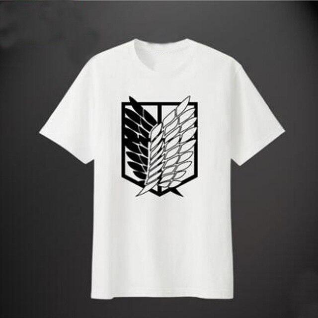 d3074c2db Shingeki no kyojin attack on titan t-shirt 2 camiseta cosplay new anime  algodão de
