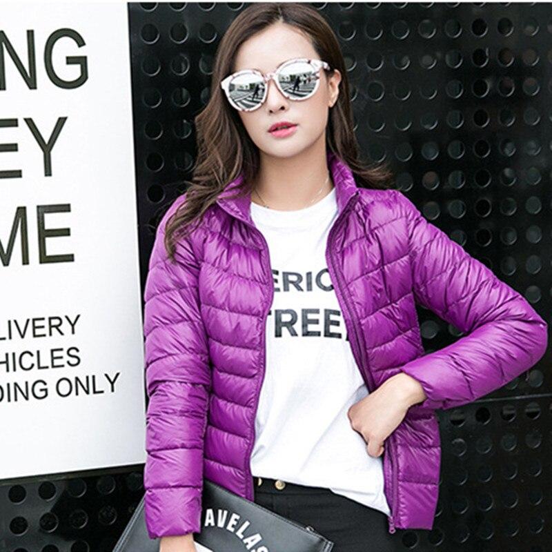 2016 Long Sleeve Ladies Slim Type Sleek Jacket Stand Collar Womens Colorful Winter Coat