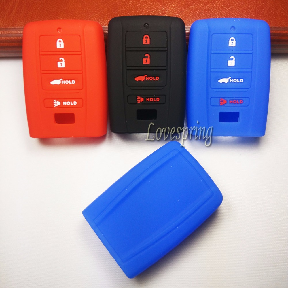 Silicone Smart 4 Buttons Key Fob Cover Case Keyless