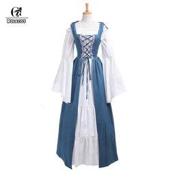 ROLECOS Neue Ankunft Gothic Lolita Medieval Renaissance Frauen Kostüme  Viktorianischen Lange Kleider Retro Vintage Frauen Kleid GC204 b60e4ad2976a