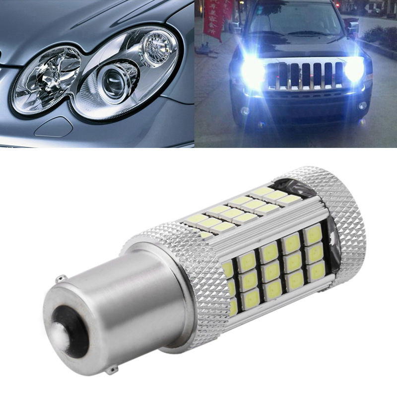 High Quality DC 12V 1156 <font><b>2835</b></font> 63 LED <font><b>6000K</b></font> Car Projector Fog Driving Light White Bulb New image