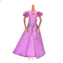 Кукла ручной работы Костюмы фиолетовый принцесса свадебное платье для Барби Рапунцель Аксессуары для кукол Элегантный 1 шт.