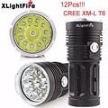 High Quality  XLightFire 30000LM 12 x CREE XM-L T6 LED Hunting Flashlight 4 x 18650 Lamp Torch