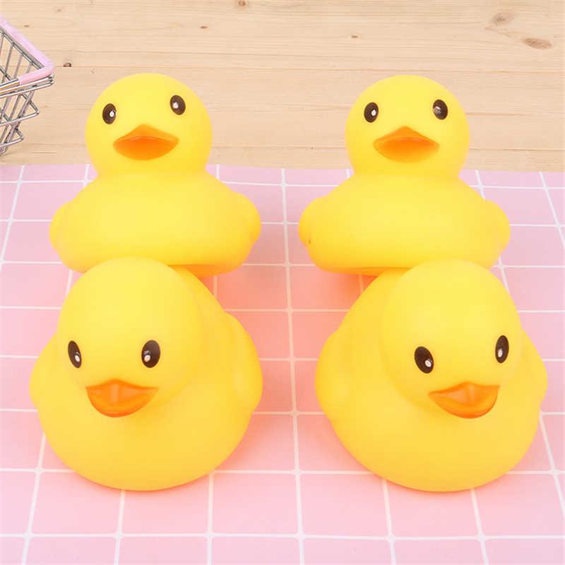 Bebê Borracha Corrida Divertido Musical Educacional para Crianças Pato Squeaky Banho Brinquedos Pato Amarelo Grande Casa de Banho de Água Brinquedos de Banho