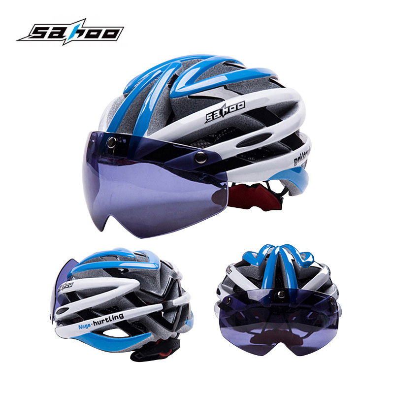 SAHOO Cycling Helmet Men Women Ultralight Bicycle Helmets With Magnetic Goggles MTB Mountain Road Bike Helmet Casco Ciclismo автоинвертор intelligent с 24в на 12в 2412 20