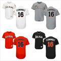 Cheap Mens #16 Jose Fernandez Jerseys 2016 Flex White Black Orange Grey Stitched jersey Forever Jose FERNANDEZ 2016