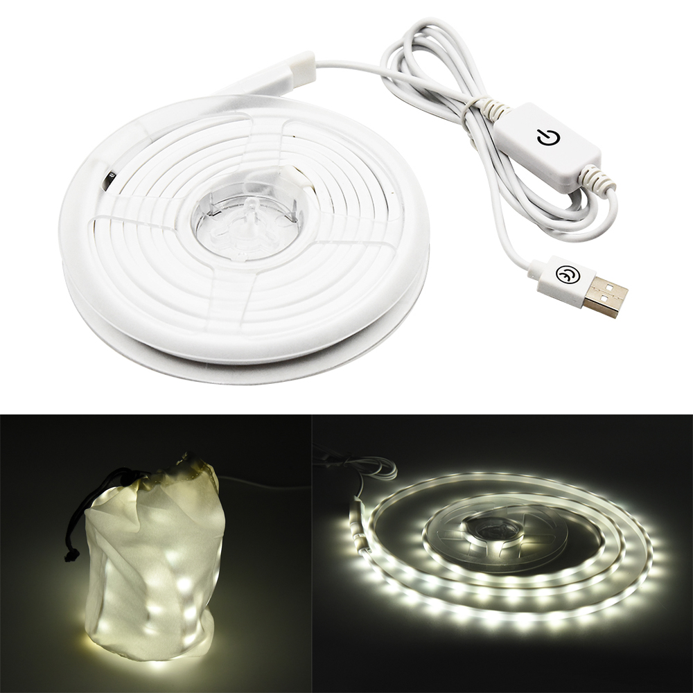 4.5 Watts USB Camping Light, 1.5M Cable Length Waterproof USB Powered LED Rope Light, Daylight 6000k, 450 Lumen, Camping String 1000led led gas station light 150w 16 000 lumen 500w 650w hid hps equal daylight 5 000 kevin ac100 277v waterproof ip65 canopy