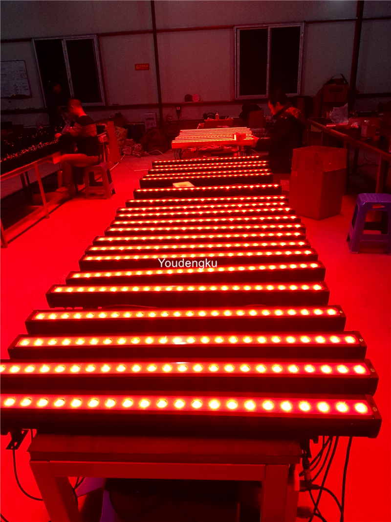 RGBW 4in1 led bar light 24x10W quad LED wall washer outdoor DMX lighting