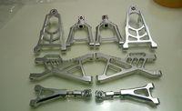 CNC Alloy suspension Arm Set para 1/5 peças hpi baja 5b km rovan 8 pc