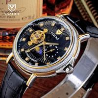 YAZOLE Crystal Dress Men Watch Top Mens Watches Top Brand Luxury Tourbillon Automatic Mechanical Wristwatch Montre