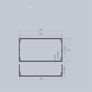 Image 5 - 1ピースアルミ計器ケース用電子プロジェクトボックスで黒で起毛51*125*160ミリメートル
