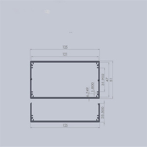 "Image 5 - 1 piece מקרה מכשיר אלומיניום תיבת פרויקט אלקטרוני בשחור עם מוברש 51*125*160 מ""מ"