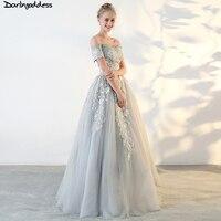 Darlingoddess Vestido De Festa 2018 Luxury Lace Evening Dress Dubai Arabic Off Shoulder Robe De Soiree Real Picture Formal Gowns