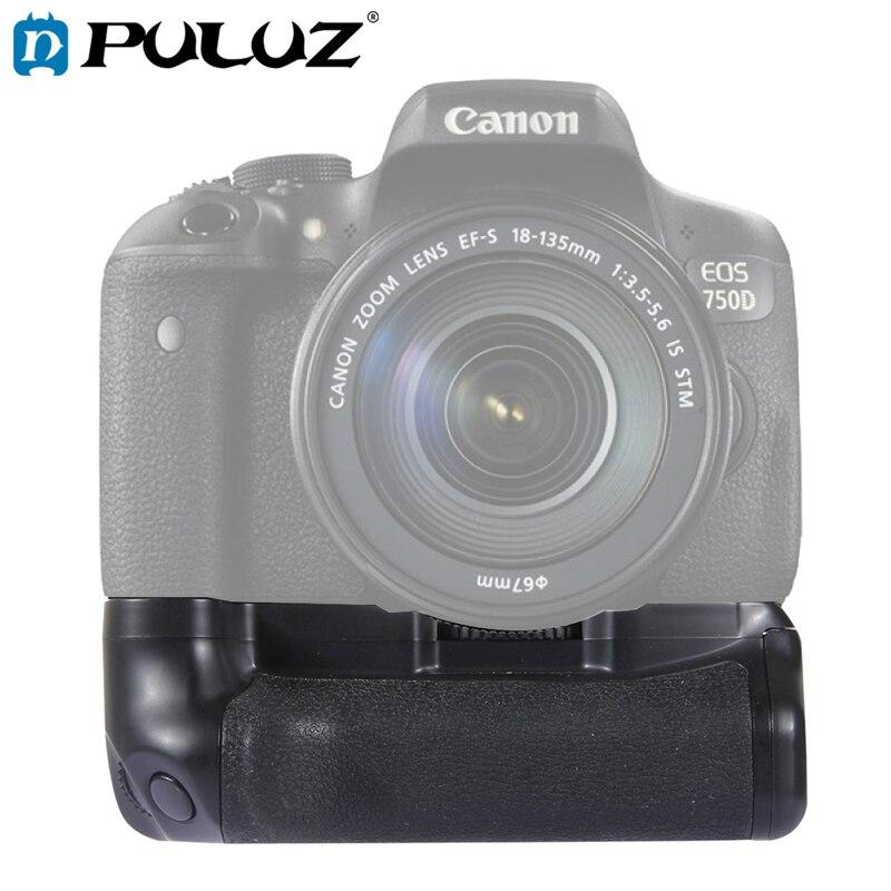 Poignée de batterie PULUZ pour appareil photo Vertical Canon poignée de batterie pour Canon 750D/760D appareil photo reflex numérique sangle de caméra gratuite